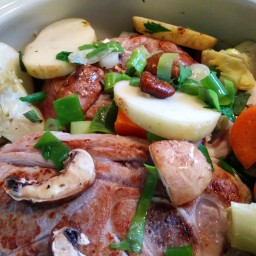 Braised Lamb and Vegetables